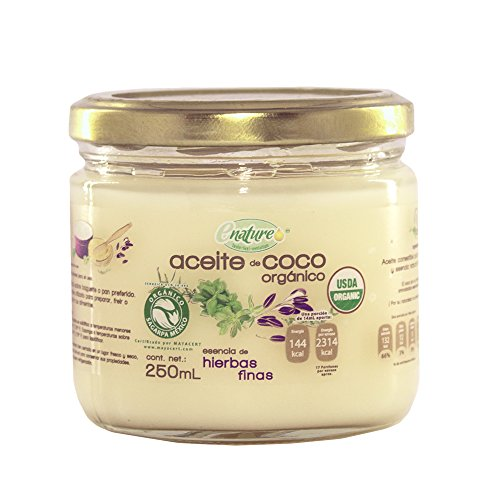 Enature Aceite de Coco Orgánico con Esencia de Hierbas Finas, 250 ml