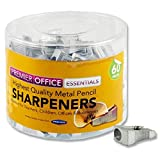 Premier Stationery Metal Single Hole Pencil Sharpener (Pack of 60)