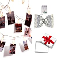 LED photo clip string lights holder