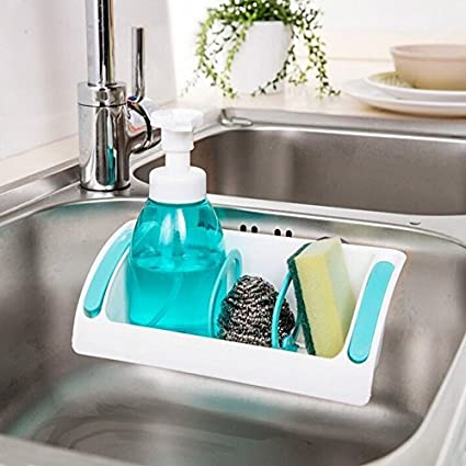 Perfect Life Ideas Kitchen Sink Sponge Rack Holder With Suction Cup Seasoning Holder Random Color 1pc