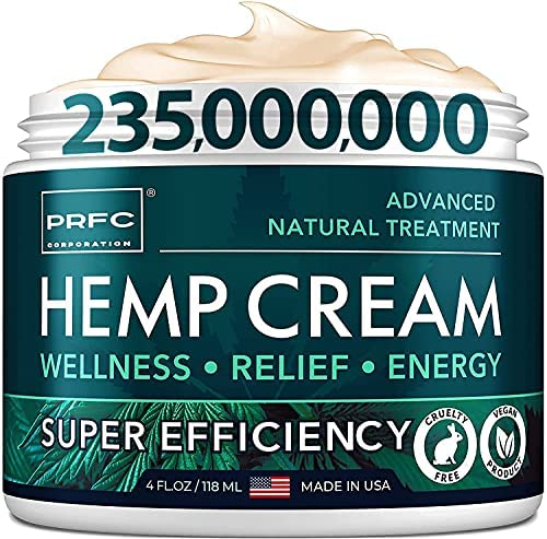 Рain Relief Hemp Cream – Made in USA – Natural Hemp Extract Cream for Back & Muscle Рain Relief – Efficient Inflammation Cream & Carpal Tunnel Relief – Good for Skin Health