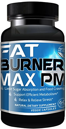 Fat Burner Max PM For Men & Women, Natural Weight Loss Supplements,...