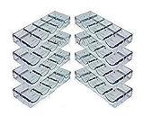 (8) Eight Clear Acrylic Poker Chip Rack (5 Row / 100 Chip) - Item 95-0050x8