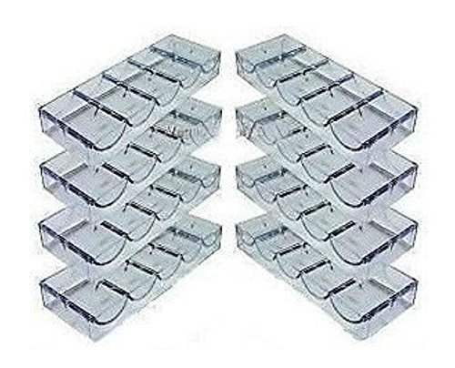 (8) Eight Clear Acrylic Poker Chip Rack (5 Row / 100 Chip) - Item 95-0050x8 by Unknown