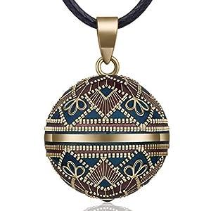 EUDORA Harmony Ball Rétro Le Style Collier Bola de Grossesse, Musique souhaitant Carillon Boule Pendentif Collier pour…