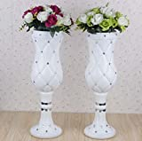 LB 2pcs Height Adjustable Plastic Roman Column Studio Photography Prop Wedding Decorative LMZ002