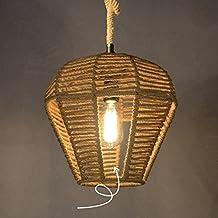 GAO LGDT Loft Industrial style Hemp rope Bar Cafe Apple-shaped pendant lights ,D310H300(mm)