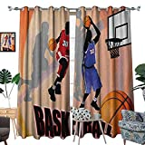 Best Div X Players - Warm Family Basketball Waterproof Window Curtain Basketball Action Review