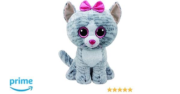 Ty - Beanie Boos Kiki, gatita, 40 cm, Color Gris (United Labels Ibérica 36838TY): Amazon.es: Juguetes y juegos