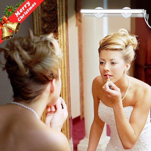 PlusMart Bathroom Vanity Light LED Mirror Light for Make Up Mirror Vanity Mirror Light with Touch Dimmer and USB Powered Cosmetic Light Kit