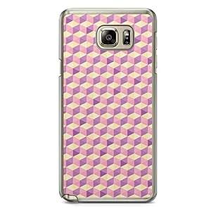 Floral Samsung Note 5 Transparent Edge Case - Geometry D