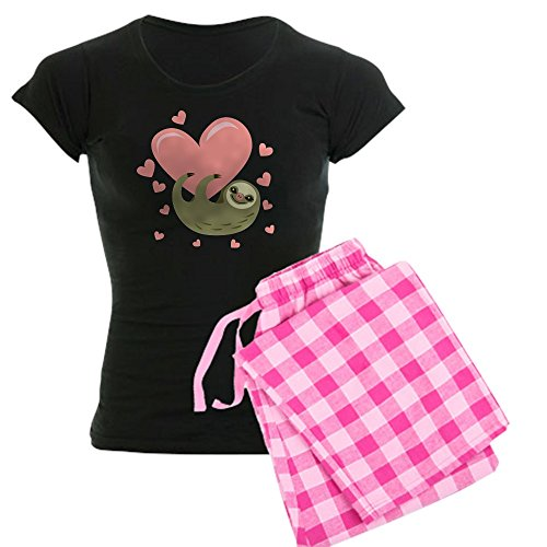 CafePress Sloth Pajamas Womens Novelty Cotton Pajama Set, Comfortable PJ Sleepwear