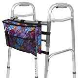 Walker Bag by Vive - Accessory Tote Caddy Provides Hands Free Storage - Folding Walker Attachment Fits Most Wide and Narrow Styles - Elderly Senior Handicap Basket Pouch Disabled, Purple