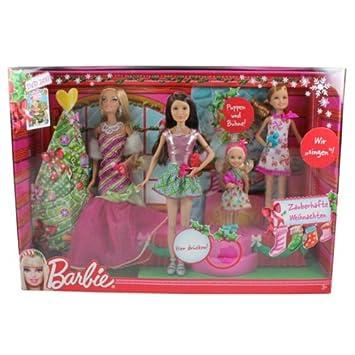 Barbie Zauberhafte Weihnachten 2019.Mattel W2989 Barbie Zauberhafte Weihnachten Singende Schwestern Mit