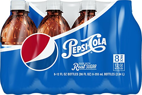 Pepsi Made with Real Sugar Bottles (8 Count, 12 Fl Oz Each)