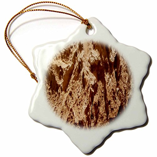 3dRose TDSwhite – Rock Photos - Natural Rock Surface - 3 inch Snowflake Porcelain Ornament (orn_281902_1) by 3dRose