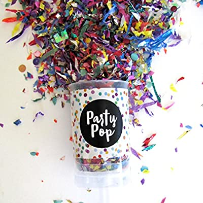 Party Pop Confetti Confetti Poppers - Push Pop: Toys & Games