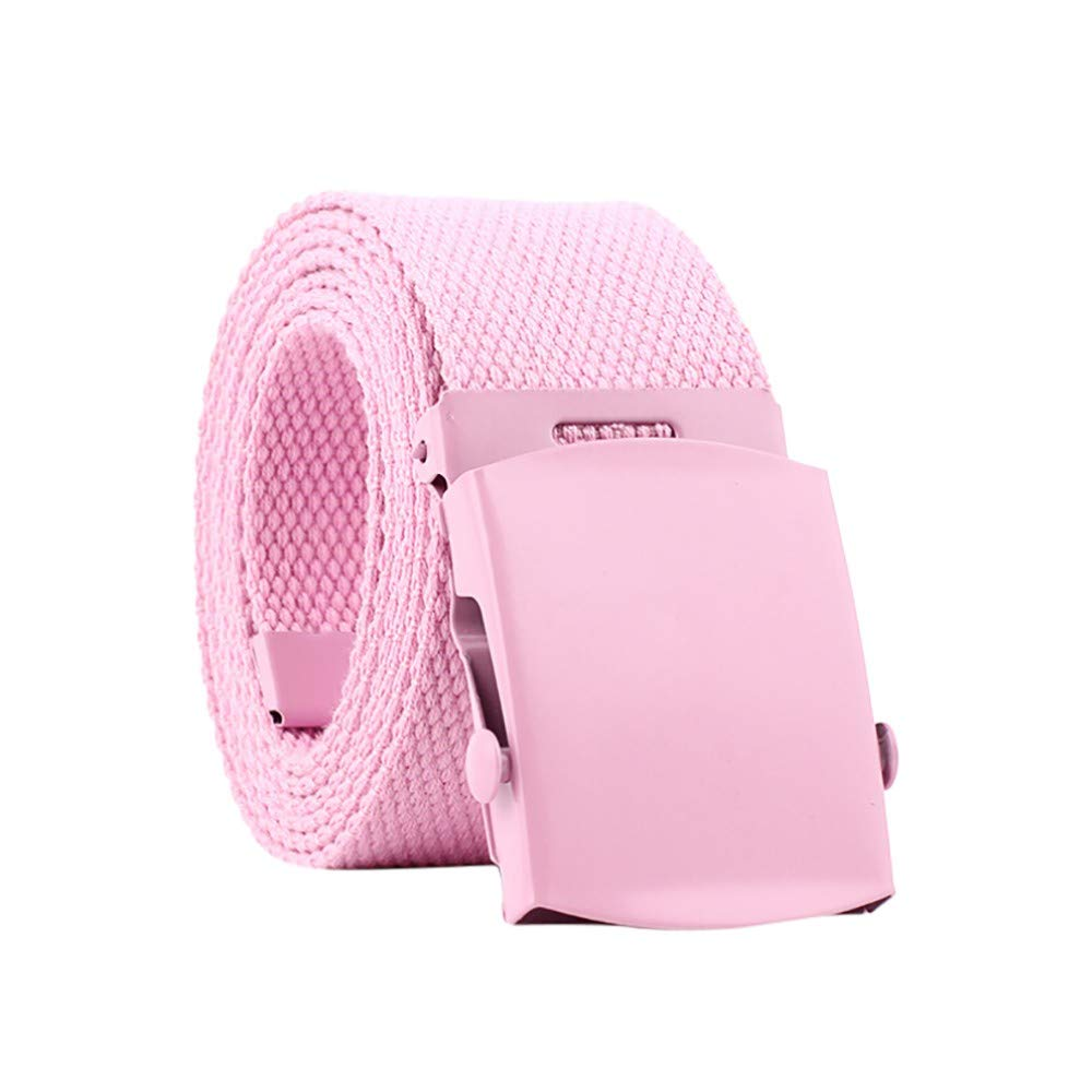 yoyorule Belts Men Women Automatic Fashion Nylon Belt Buckle Fans Canvas Belt