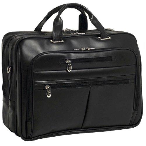 Mckleinusa Rockford 86515 Black Leather 17  Laptop Case