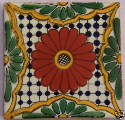 Amazon.com: 12 pintado a mano Talavera mexicano azulejos 4 ...