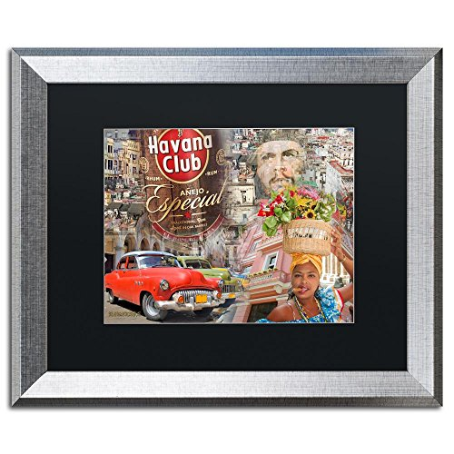 Trademark Fine Art Havana Club I by Alberto Lopez, Black Matte, Silver Frame 16x20-Inch