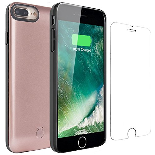 iPhone 6 6s Battery Case - Veepax Premium 2500mAh Portable Charging Case for iPhone 6/6s/7/8 (4.7 Inch) Extended Rechargeable Power Bank - Rose Gold