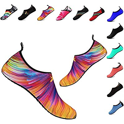 YALOX Water Shoes Women's Men's Outdoor Beach Swimming Aqua Socks Quick-Dry Barefoot Shoes Surfing Yoga Pool Exercise