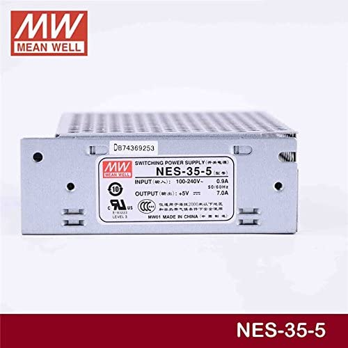 Enclosed Type 35W 5V 7A NES-35-5 Meanwell AC-DC Single Output NES-35 Series MEAN WELL Switching Power Supply