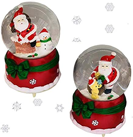 Childrens Kids Musical Christmas Snow Globe Xmas Home Decoration Gift