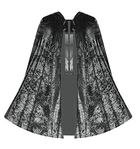 [Victorian Vagabond Gothic Medieval Renaissance Steampunk Velvet Capelet] (Dark Magician Costumes Pattern)