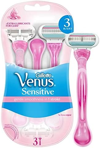 Gillette Venus maquinillas de afeitar desechables Sensibles 3 por ...