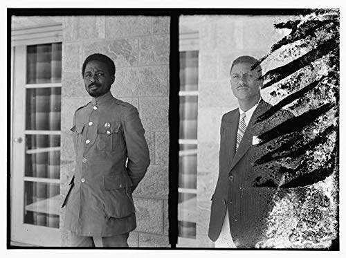 - HistoricalFindings Photo: Man in Military Uniform,Man in Suit Jacket,Members of Haile Selassie's Entourage