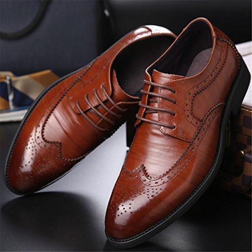Mens Tillfälligt Arbete Spets-up Klassiska Flerfärgade Läder Vintage Oxford Skor 2105 Svart