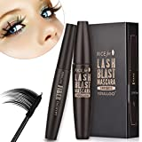 3D Fiber Lash Mascara, 3D Fiber Lashes, Lasting All Day, waterproof, smudge proof & hypoallergenic ingredients, non-toxic and natural (Black)