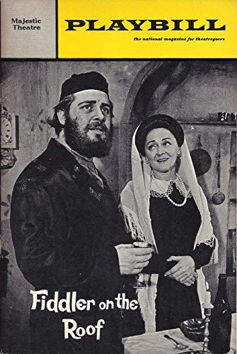 "Bock & Harnick""FIDDLER ON THE ROOF"" Bette Midler (Debut) Harry Goz/Maria Karnilova 1967 Broadway Playbill/Ticket Stub"