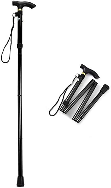 ASEEBY Collapsible Walking Stick for Men Women Adjustable Trekking Pole Portable Hand Walking Stick with Comfortable T Handles