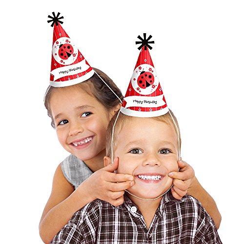 Modern Ladybug - Cone Birthday Party Hats - 8 (Ladybug Party Theme)