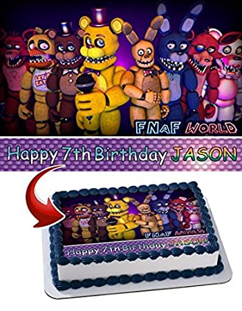 Five Nights at Freddy's FNAF Edible Cake Topper Personalized