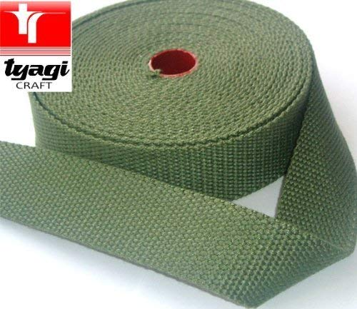 Tyagi Racing 38mm Cotton Canvas Webbing Strap Tape Bottle Green