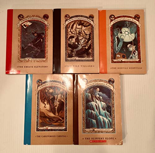A Series of Unfortunate Events Box Set (Book 6-10) (The Ersatz Elevator: Book 6, The Vile Village: Book 7, The Hostile Hospital: Book 8, The Carnivorous Carnival: Book 9, The Slippery Slope: Book 10,