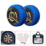 AGOOL Snow Sock Traction Longer Life Car Tire Traction Cover Socks Tire Chain Alternative Anti Slip Winter Traction Aid Snow/Ice/Slush Antiskid for Car Truck SUV (53)