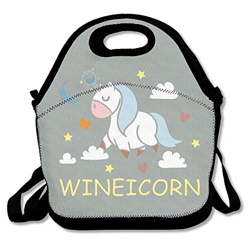 Mkajkkok Unicorns Are Flying. Lunch Tote Lunch Bags With Neoprene