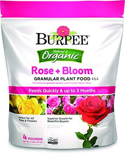 Burpee Organic Rose and Bloom Granular Plant Food, 4 lb