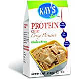 Kay's Naturals Protein Chips, Crispy Parmesan, Gluten-Free, Low Carbs, Low Fat, All Natural Flavorings, 5 Ounce (Pack of 6)