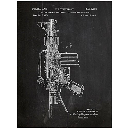 inked-and-screened-colt-m16-rifle-design-patent-art-poster-silk-screen-print-18-l-x-24-h-chalkboard