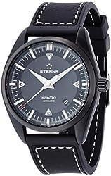 Eterna KonTiki Date Automatic Watch, SW 200-1, Black, Leather strap