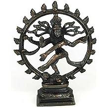Large Antiqued Bronze Shiva Dancing Statue