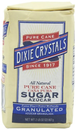 (Dixie Crystals Extra Fine Granulated Sugar, 2-Pound (Pack of)