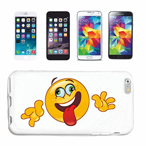"cas de téléphone Samsung Galaxy S6 edge ""RIRE SMILEY Outstretched TONGUE OUT ""sourire EMOTICON APP de SMILEYS SMILIES ANDROID IPHONE EMOTICONS IOS"" Hard Case Cover Téléphone Covers Smart Cover pour Sa"