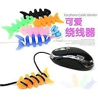 Favor 5/20/50/100 Pcs Cute Multicolor Soft Silicone Rubber Fish Bone Fishbone Ninja Darts Star Key Cord Winder Cable... reviews